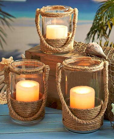 Nautical Rope Candle Lanterns