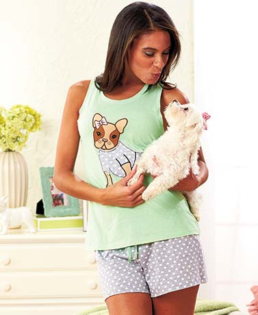 Women's Critter Shorty Pajama Sets
