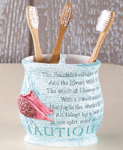 Coastal Retreat Bath Collection - Toothbrush Holder