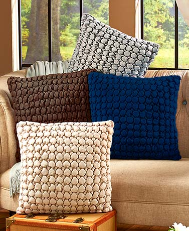 "18"" Ruched Bubble Pillows"