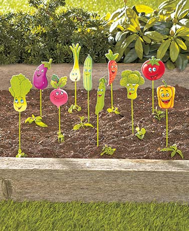 Set of 10 Vegetable Garden Markers