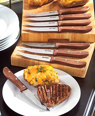 Art and Cook 8-Pc. Walnut Steak Knives