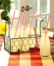 Country Chic Milk Bottle Drink Set