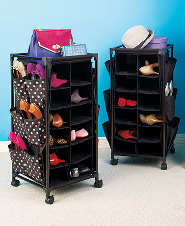 Fashionable Rolling Shoe Storage