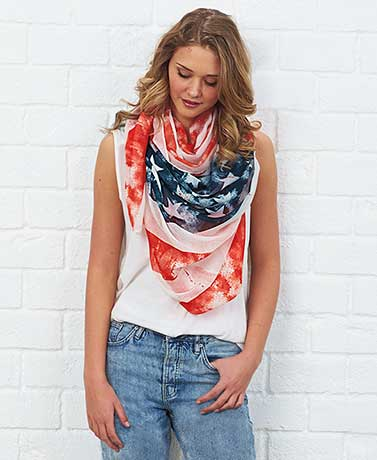 Oversized Patriotic Fashion Scarf