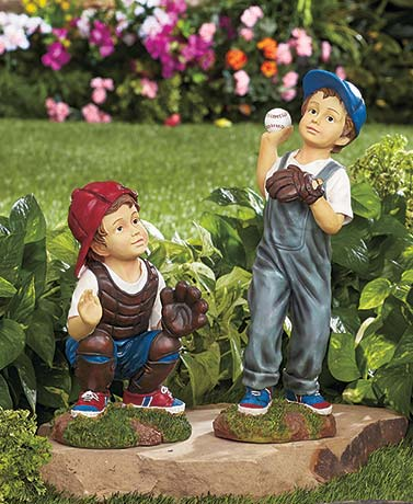 Baseball Player Garden Statues