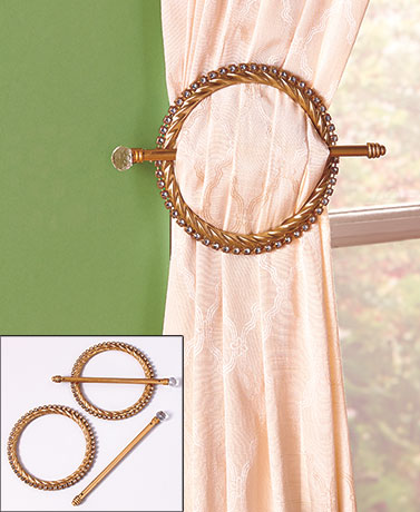 Sets of 2 Jeweled Curtain Tie-Backs