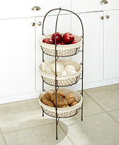 3-Tier Fabric-Lined Storage Basket