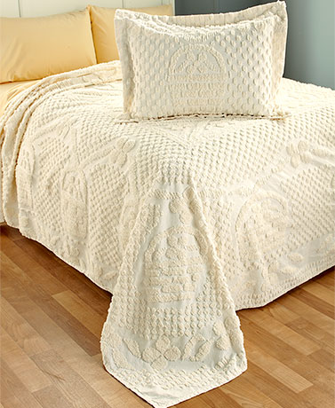 Chenille Tulip Bedspreads or Shams