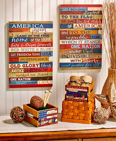Patriotic Home Decor Collection
