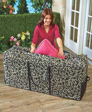 Rolling Outdoor Cushion Storage