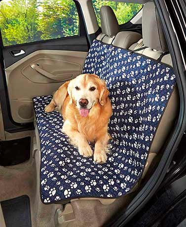 Paw Print Quilted Car Seat Cover