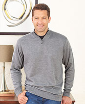Men's Gray/Black Sets of 2 Zip-Neck Sweaters
