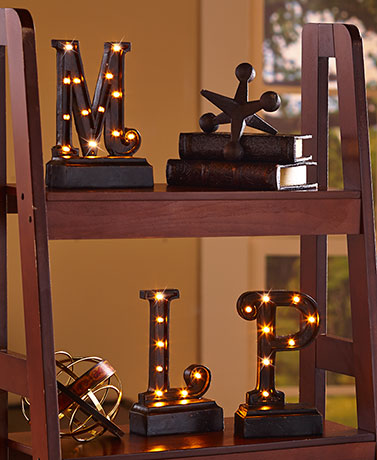 Lighted Monogram Plaques