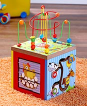 5-In-1 Wooden Learning Center