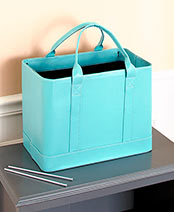 Chic File Organizer Totes - Blue
