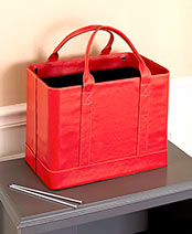 Chic File Organizer Totes - Red