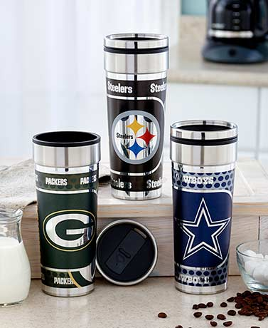 22-Oz. NFL 360° Wrap Travel Tumblers