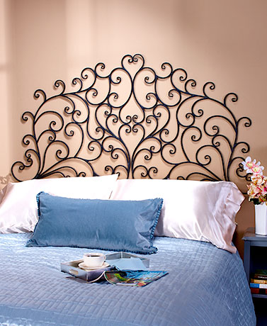 Scrolled Wall-Mount Headboards