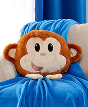 Plush Monkey Pillow Friend