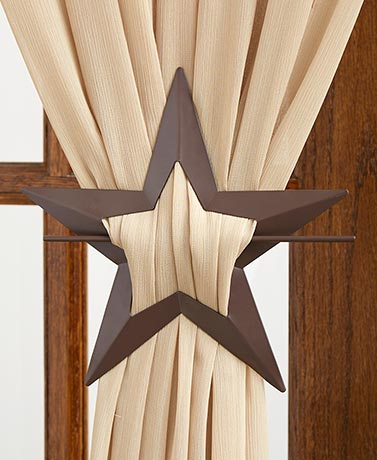 Star Set of 2 Curtain Tie-Backs