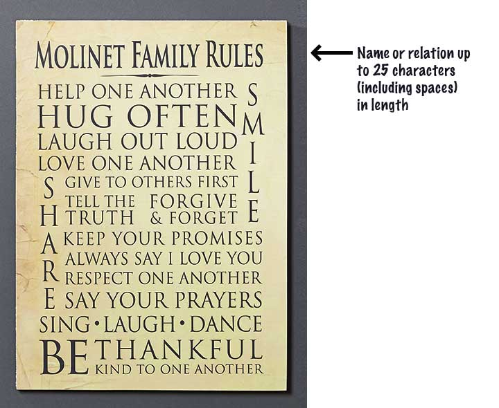 personalized family wall plaques the lakeside collection