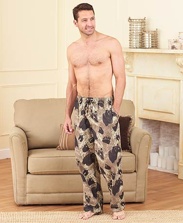 Men's Set of 2 Wildlife Flannel Pants