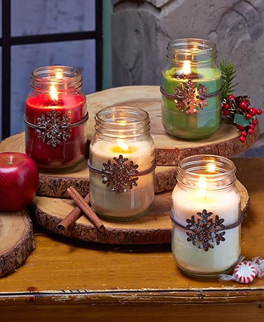 Winter Warmth Mason Jar Candles
