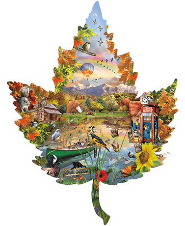 1000-Pc. Seasonal Leaf-Shaped Puzzles