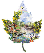 1000-Pc. Summer Splendor Leaf-Shaped Puzzle
