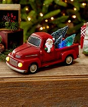 Holiday Lighted Vehicles - Red Truck