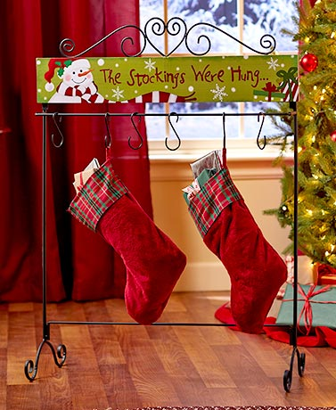 Standing Holiday Stocking Hanger