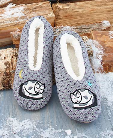 Sherpa-Lined Critter Slippers