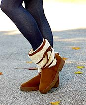 Women's Brown Microsuede Boots
