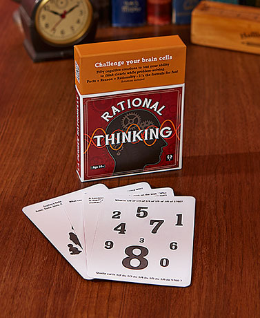Optical Illusion or Rational Thinking Cards