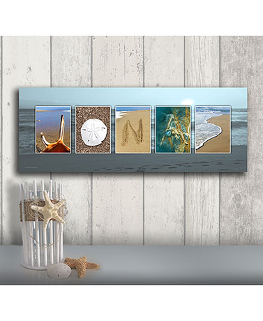 Personalized Thematic Name Art - Coastal