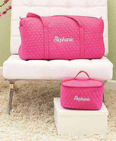 Personalized Duffels or Cosmetic Bags