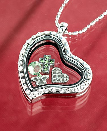 Birthstone Floating Charm Locket Necklaces