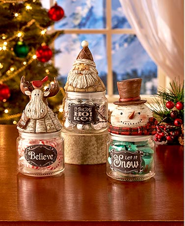 Holiday Character Candy Jars