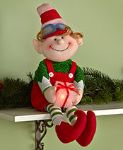 Holiday Elf Collection - Max Lighted Shelf Sitter