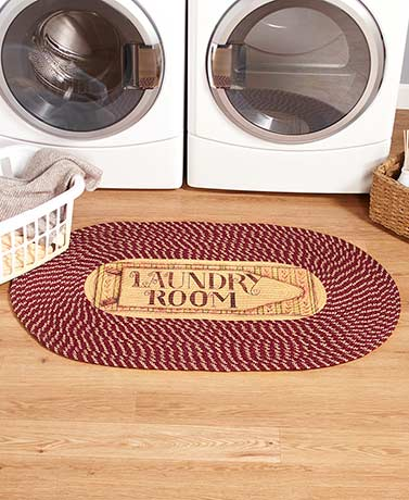 "46"" Braided Laundry Room Rugs"