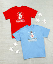 Personalized Snowflakes T-Shirts
