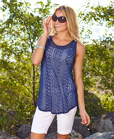 Women's Sleeveless Lace Tunics