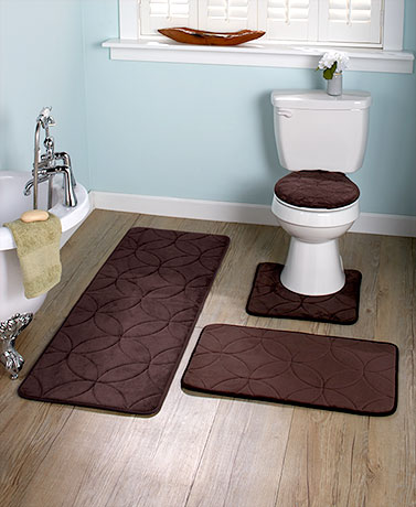 Plush Memory Foam Bath Rugs