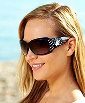 Women's Embellished Sunglasses with Case