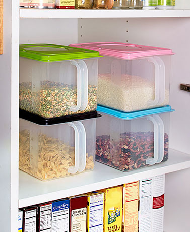 Clear Storage Container with Handle