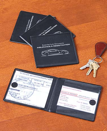 Set of 4 Auto Registration and Insurance Wallets
