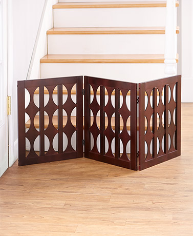 Brown Wooden Pet Gate
