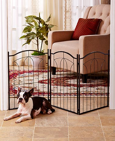 Classic Metal Arch or Wooden Pet Gates