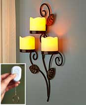 Scrolled Metal LED Wall Sconces